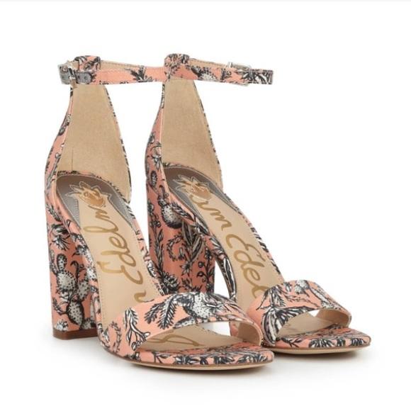 434f4620dde Sam Edelman Yaro Cactus Block Heel Size 7.5 NWT
